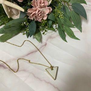 Vintage Triangle Pendant Necklace & Chain